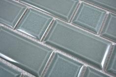 mosaico ceramica mattoncino grigio antracite