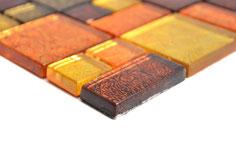 mosaico vetro tessera 23/48mm foglia oro