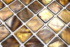 mosaico in madreperla marrone