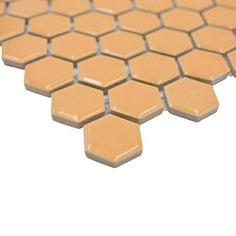 mosaico esagoni ocra lucido