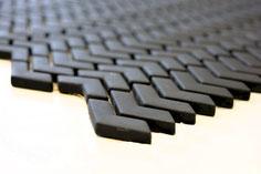 mosaico design vetro tessera 10/45mm nero