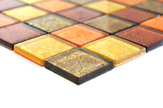 mosaico vetro tessera 48mm foglia oro