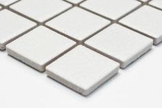 mosaico ceramica antiscivolo per piscina, bagno colore bianco