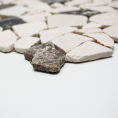 mosaico palladiana marmo mix castagno crema