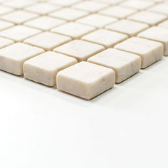 mosaico marmo Botticino anticato
