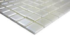 Mosaico ECO MOS 25/25 mm BIANCO METALLICO