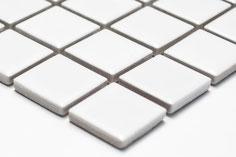 mosaico in ceramica forma quadrata bianco opaco