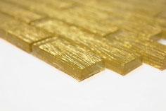 Mosaico Riflessi Brick Oro in vendita online da Mosaix