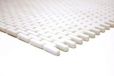 mosaico a mattoncino vetro tessera 5/20mm bianco