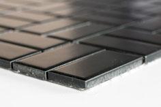 mosaico in ceramica colore nero forma rettangolo opaca