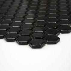mosaico esagoni nero