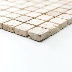 mosaico marmo Travertino Chiaro