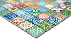 mosaico in ceramica effetto patchwork