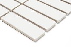 mosaico in ceramica vetro colore bianco forma rettangolo lucido