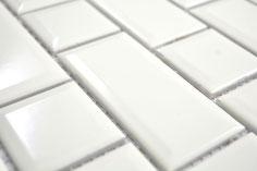 mosaico ceramica mattoncino avorio