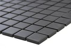 mosaico non smaltato opaco colore nero. 3,50 Euro al foglio