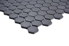 Mosaico Esagoni NERO ANTISCIVOLO opaco