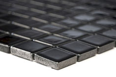mosaico ceramica colore nero lucido