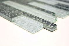 mosaico vetro a mattoncino foglia argento in vendita online da Mosaix