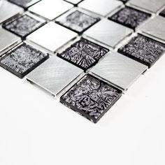 Mosaico 15mm in Alluminio Mix Silver