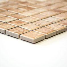 mosaico in ceramica effetto terracotta