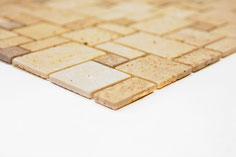 Mosaico Marmo 15/32/48mm Travertino Chiaro Noce anticato