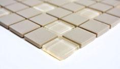 mosaico non smaltato opaco in ceramica e vetro colore beige. 3,40 Euro al foglio
