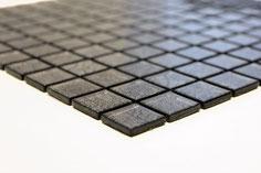 mosaico vetro tessera 23mm foglia argento colore nero