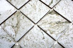 mosaico in ceramica effetto pietra colore grigio chiaro