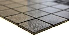 mosaico vetro tessera 48mm foglia argento