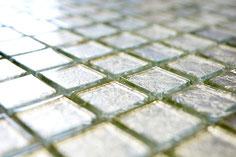 mosaico vetro tessera 23mm foglia argento
