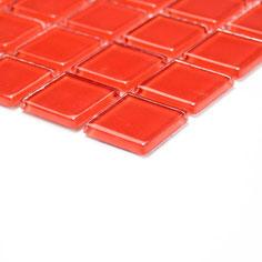 Mosaico CRYSTAL ROSSO Vetro lucido