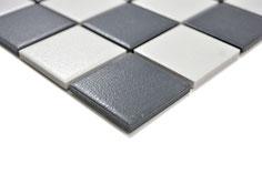 mosaico ceramica antiscivolo per piscina, bagno colore mix bianco nero