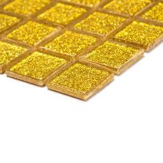 mosaico vetro Glitter Oro