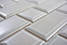 mosaico ceramica mattoncino grigio