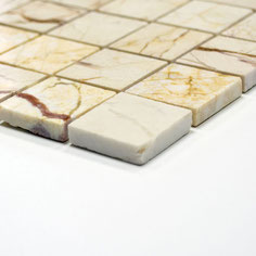 mosaico marmo Golden Cream lucido