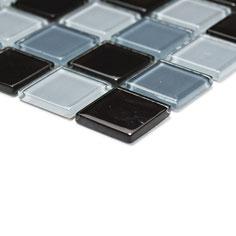 Mosaico CRYSTAL MIX NERO Vetro lucido