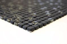 mosaico vetro tessera 10mm nero