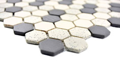 Mosaico Esagoni SALE PEPE  MIX ANTISCIVOLO opaco