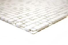 mosaico vetro tessera 10mm bianco