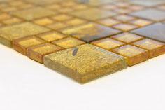 mosaico vetro tessera 23/48mm Patch foglia oro