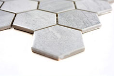 Mosaico esagonale effetto GRIGIO BARDIGLIO