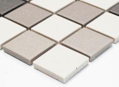 mosaico non smaltato opaco colore mix beige. 3,60 Euro al foglio