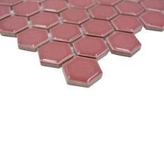 mosaico esagoni rosso