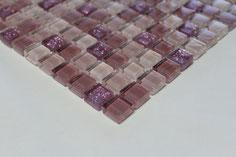 mosaico vetro Glitter Rosa