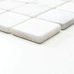 mosaico marmo Bianco Carrara anticato