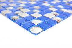 mosaico per la casa al mare blu
