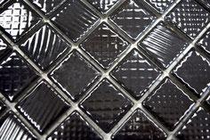 mosaico strutturato ceramica colore nero lucido