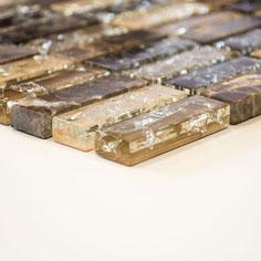 Mosaico Marmo Vetro 15/50mm Brick Broken Emperador