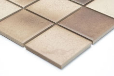 mosaico ceramica antiscivolo per piscina, bagno colore mix beige